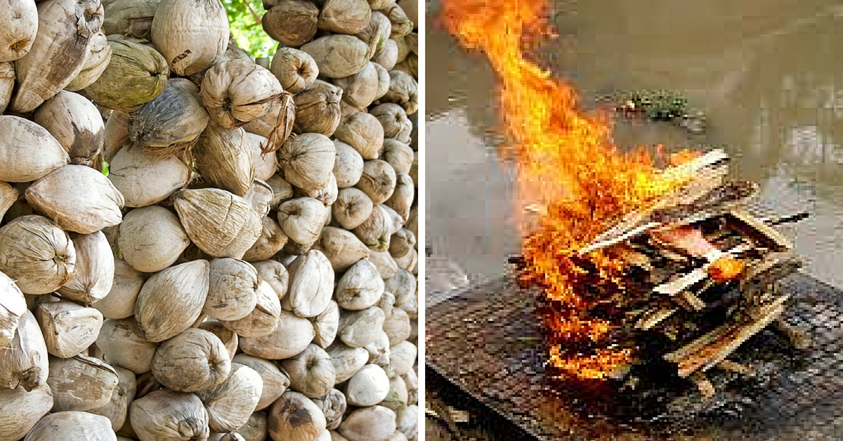 This Novel Initiative Will Haul Coconut Shells All the Way to Varanasi Pyres and Save Trees
