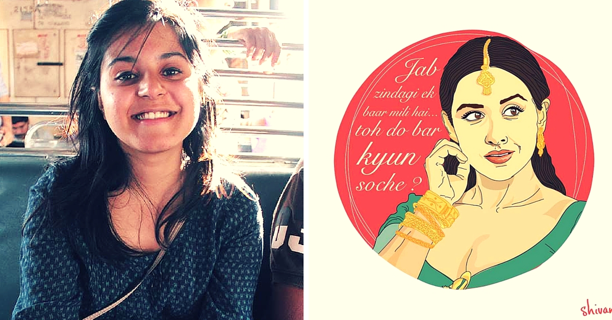 This 21-Year-Old Mumbaikar is Honouring Bold Female Movie Characters with Her Brilliant Artwork