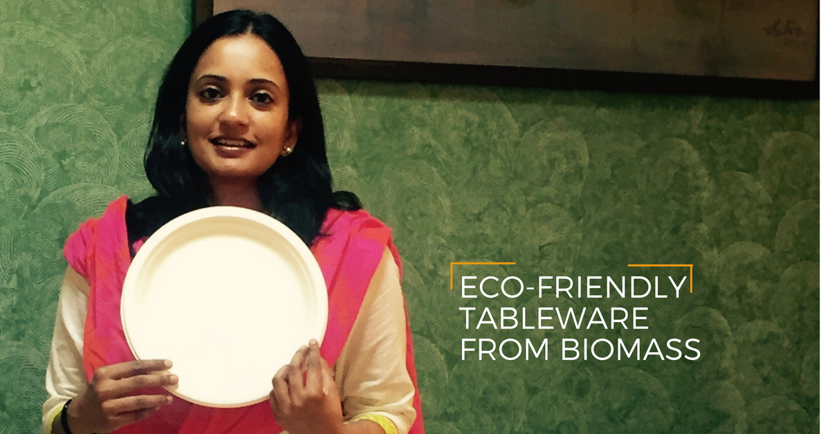 This Woman Entrepreneur Makes Eco-Friendly Tableware from Plant Biomass to Fight the Plastic Menace