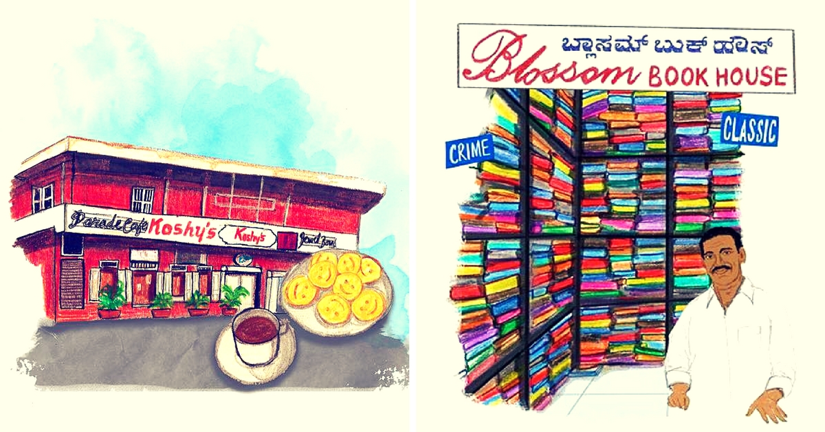 This Artist's Quirky #100DaysofBangalore Sketches Will Make You Fall in Love with the City Again
