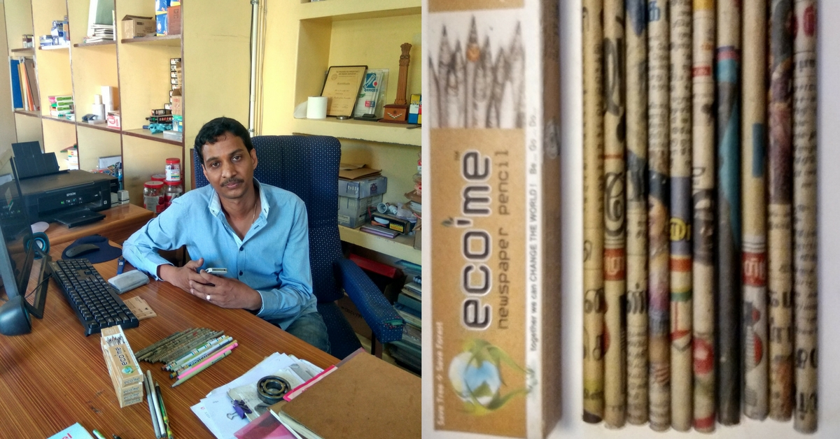 These Eco-Friendly Pencils Help Recycle Old Newspapers and Save Trees