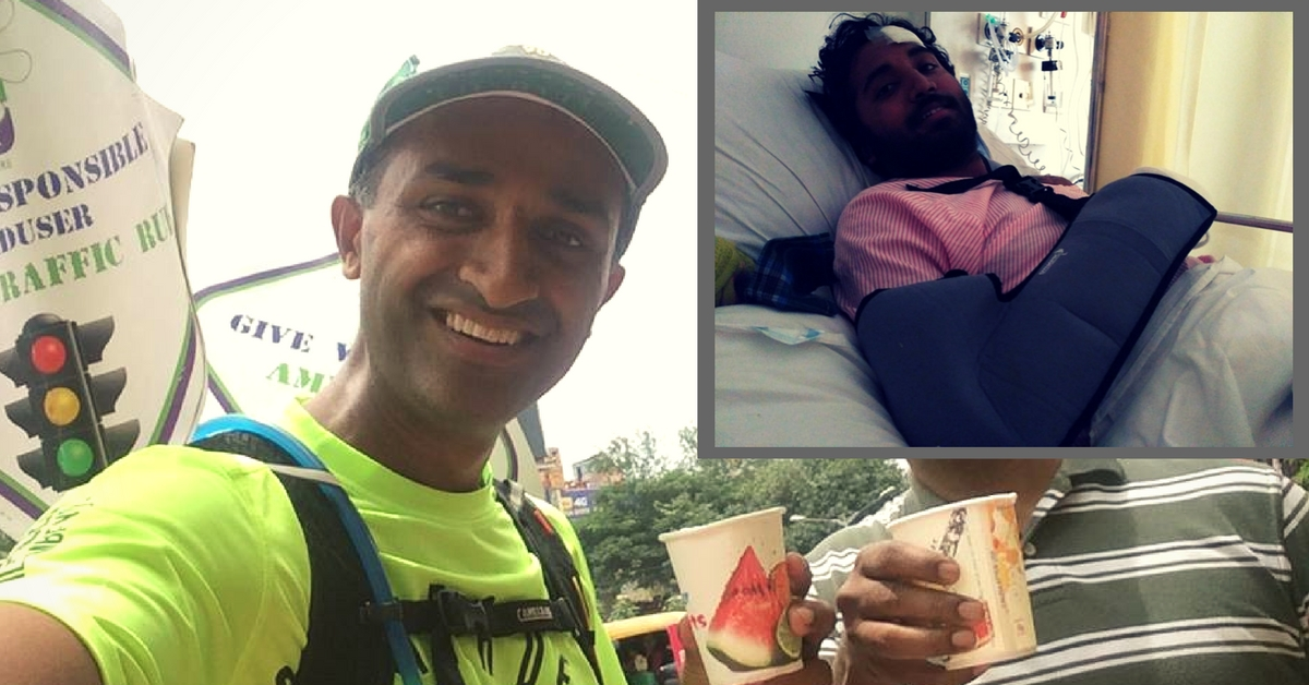 Bengaluru Runner Helps an Accident Victim during a Marathon & Raises Rs 5 Lakh for His Treatment