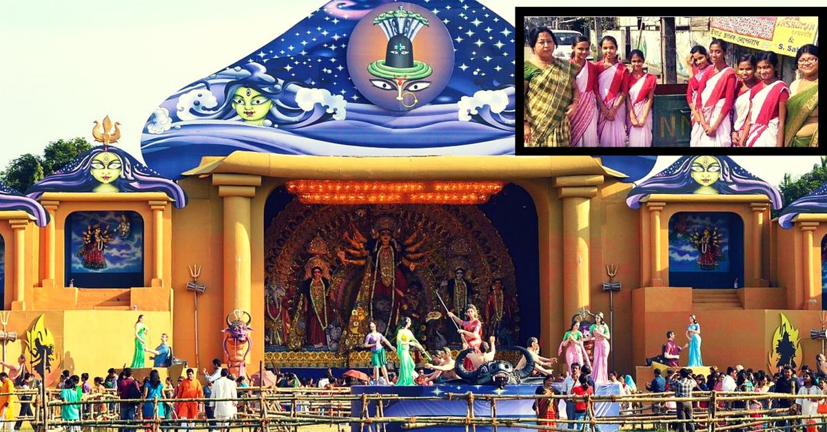 How Enterprising Schoolgirls in Assam Patrolled Puja Mandaps to Ensure Eco-friendly Celebrations