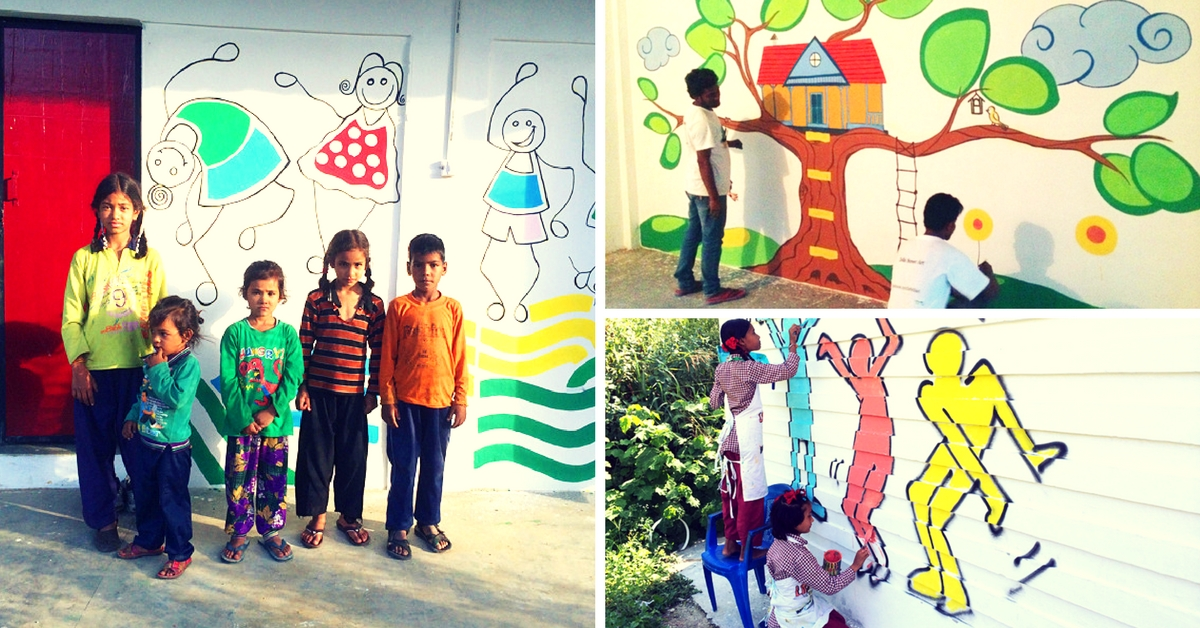 The Drab Walls of 5 Schools in Uttarakhand Were given a Colourful Makeover by Delhi Artists