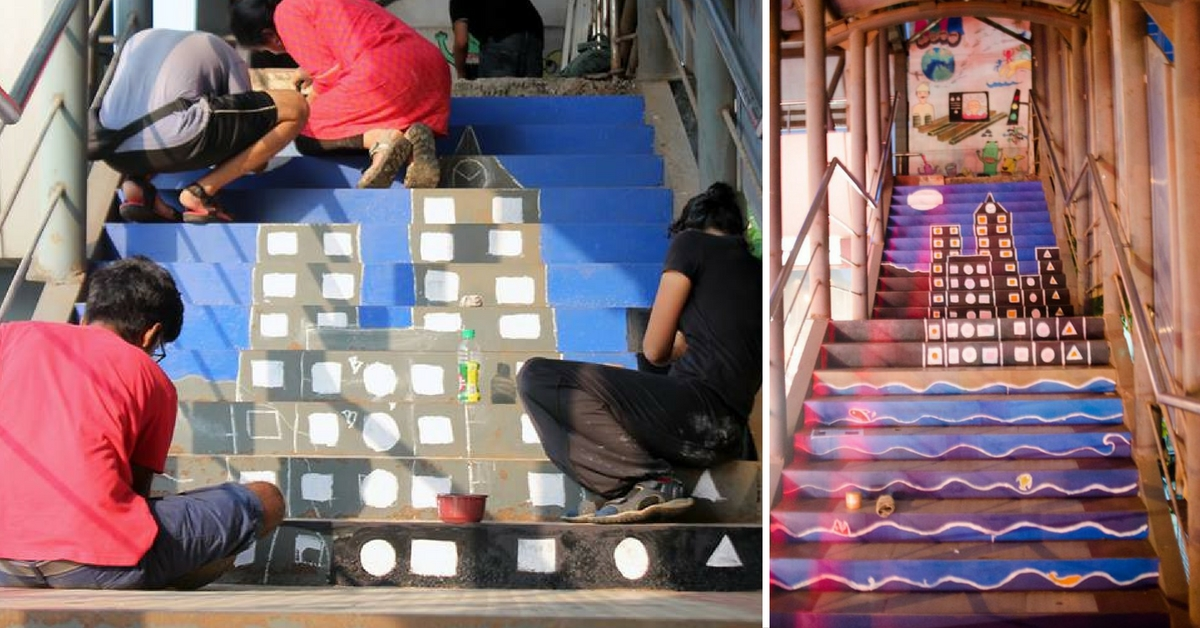 An IIT Student and Her Team Gave a Makeover to This Mumbai Skywalk and It Looks Fabulous Now