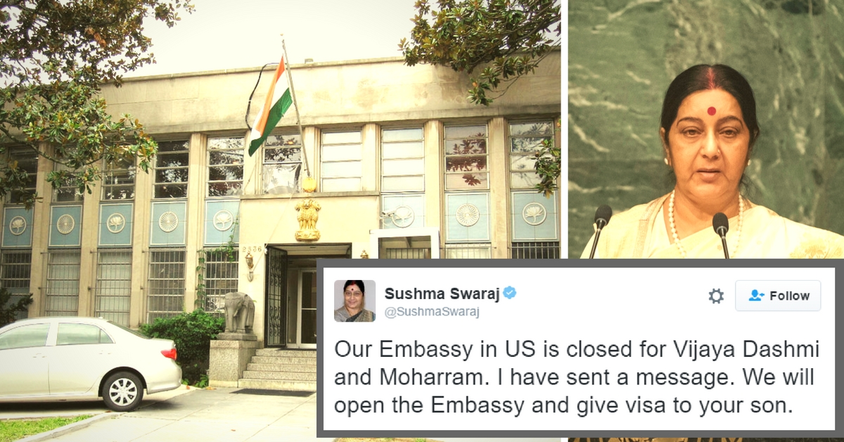 The Indian Embassy in US Worked on a Holiday to Make Sure That a Son Attends His Father's Funeral