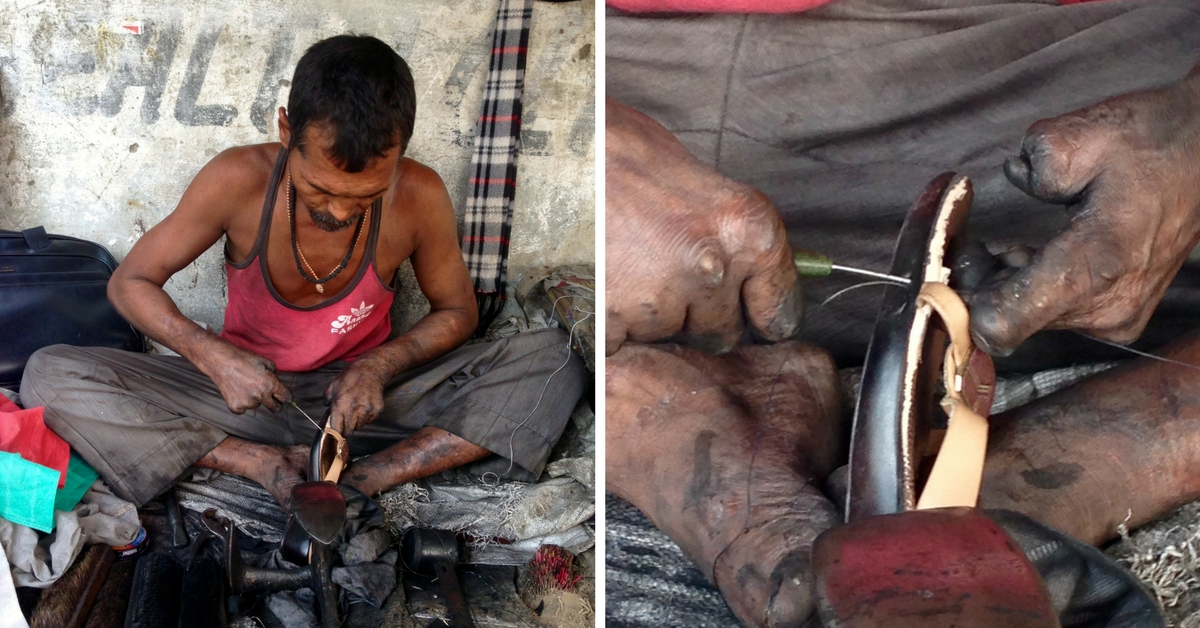 For This Fingerless Cobbler at a Delhi Street Corner, Every Day of Work Is an Act of Courage