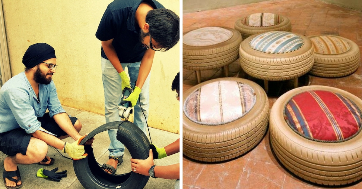 These Ingenious IIT Students Are Using Scrap Tyres to Build a Library and Playground for Needy Kids
