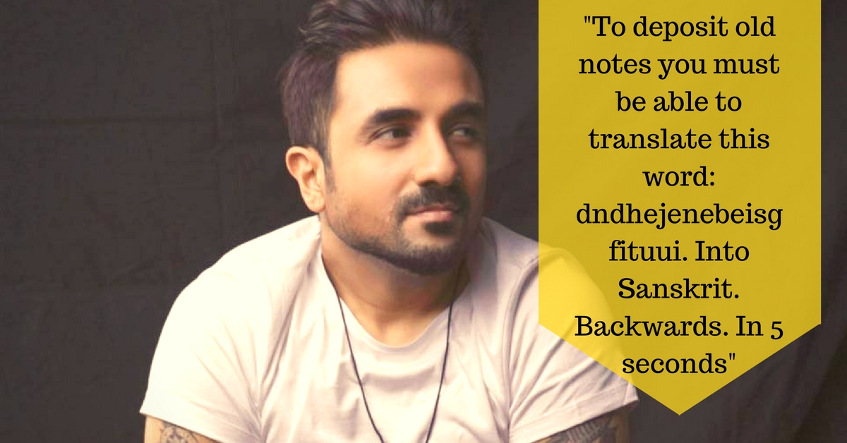 """Vir Das' """"Rules"""" about Demonetisation Will Have You Doubling up in Laughter"""