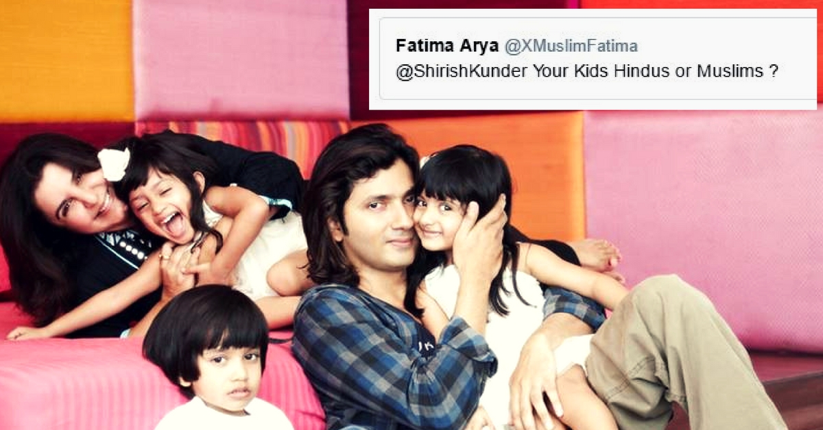 Someone Asked Shirish Kunder about His Children's Religion. His Answer Is Winning the Internet!