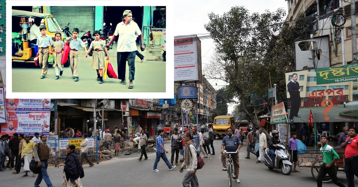 Hyderabad's Laddu Bhai Has Been Helping Young Kids Cross the City's Busy Streets for 35 Years!