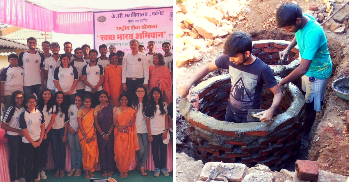 300 Mumbai Students Worked Every Sunday for 2 Years & Gifted 107 Toilets to a Village!