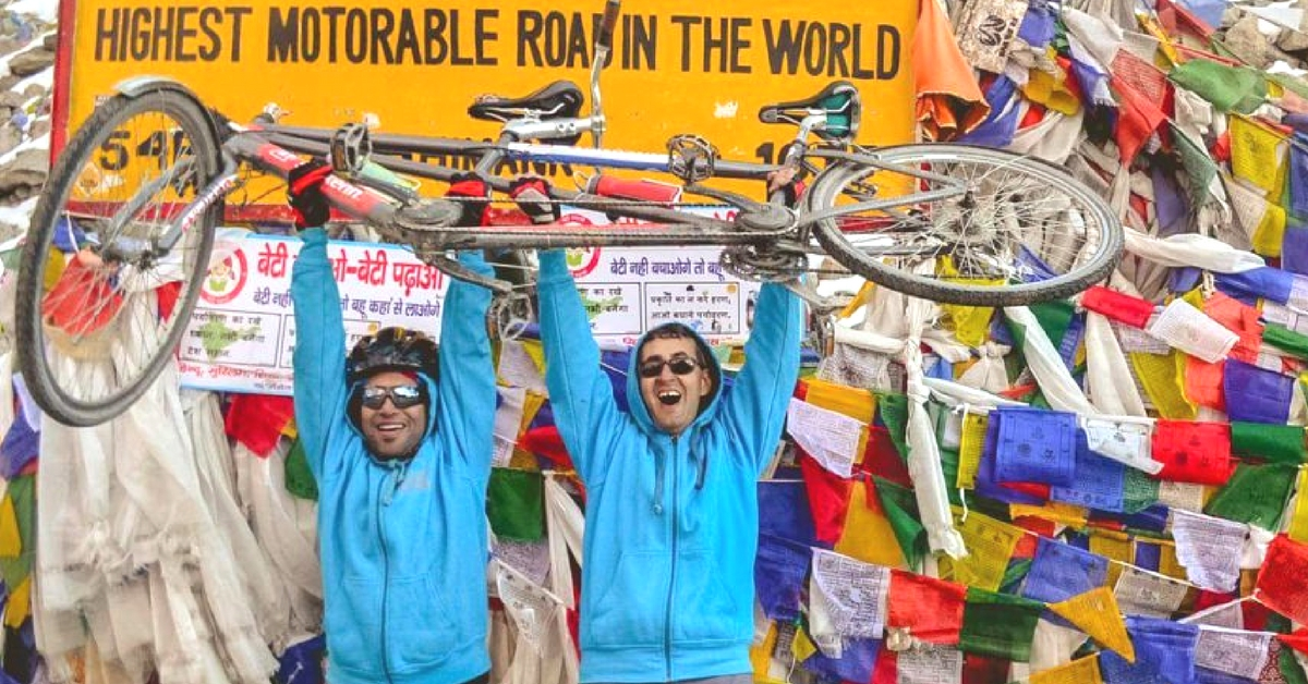 Watch How a Visually Impaired Adventurist Cycled All the Way up to the Highest Motorable Road