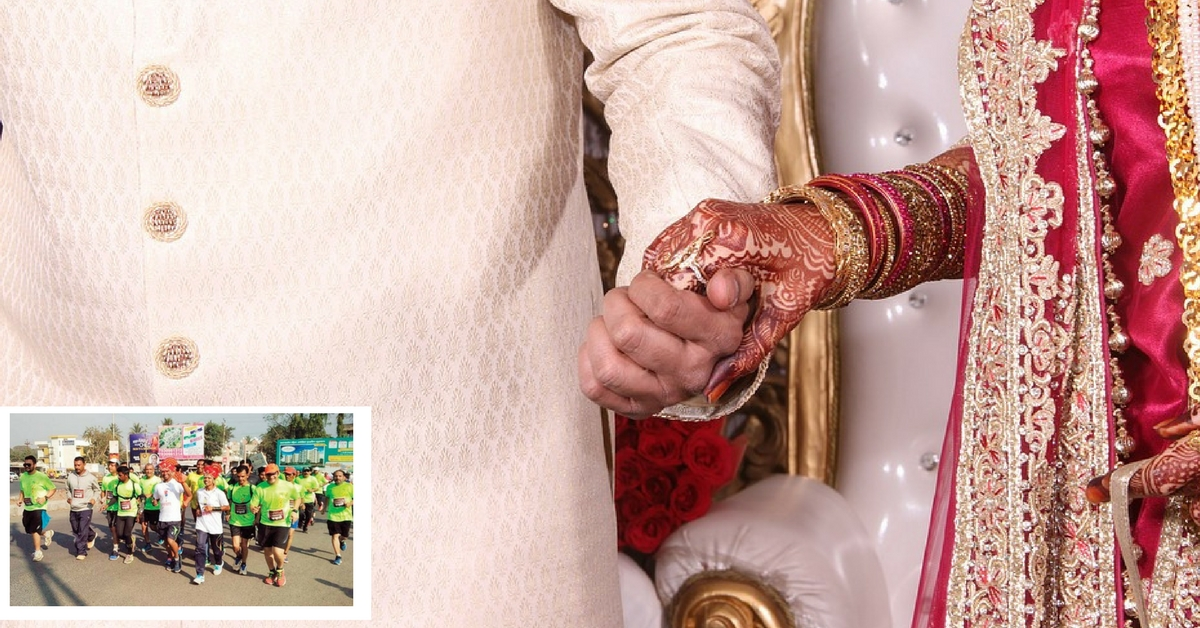 This Bride and Groom, Along With Their Wedding Party, Ran 25km to Get Their Marriage Registered!