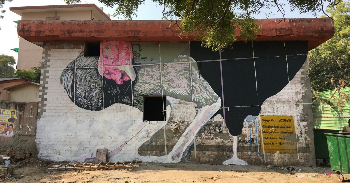 TBI Blogs: How Amitabh Kumar Is Raising Awareness About Animal Cruelty in India Through a Gigantic Mural