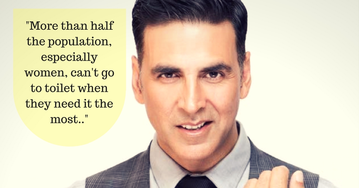 We All Know We Need More Toilets in the Country. But Can Anybody Say It Better Than Akshay Kumar?