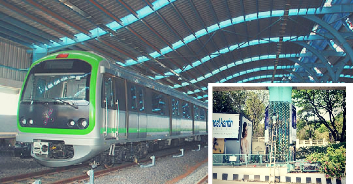 A Startup in Bengaluru Is on a Mission to Convert Metro Pillars Into Vertical Gardens!
