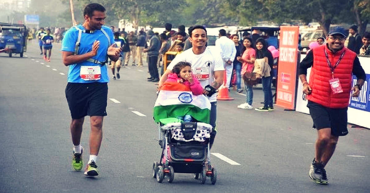 This Super Dad Runs Marathons With His 3-Year-Old To Send A Heart-Warming Message.
