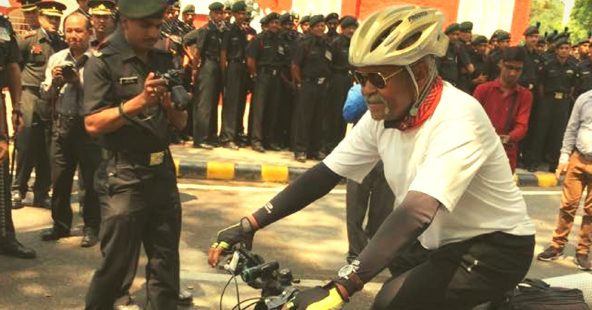 This Retired Major General Just Cycled Across 29 States in India to Honour Fallen Soldiers