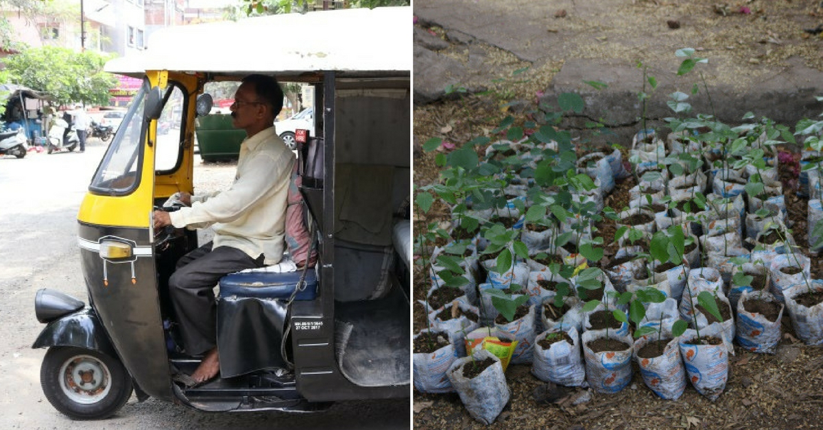 This 42-Year-Old Auto Rickshaw Driver from Kolhapur Has Donated over 8,000 Saplings to Save Earth