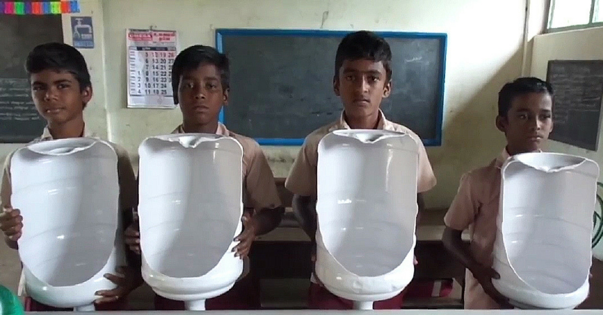 TBI Blogs: How 13-Year-Olds from Tamil Nadu Designed Low-Cost Toilet Urinals Using Waste Plastic Bottles