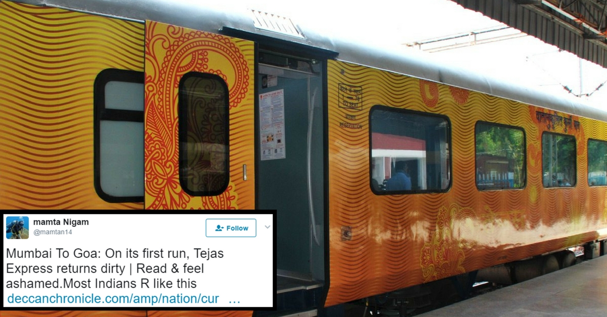 Think Indians Don't Deserve Public Facilities Like Tejas Express? Here Are 5 Reasons We Do!