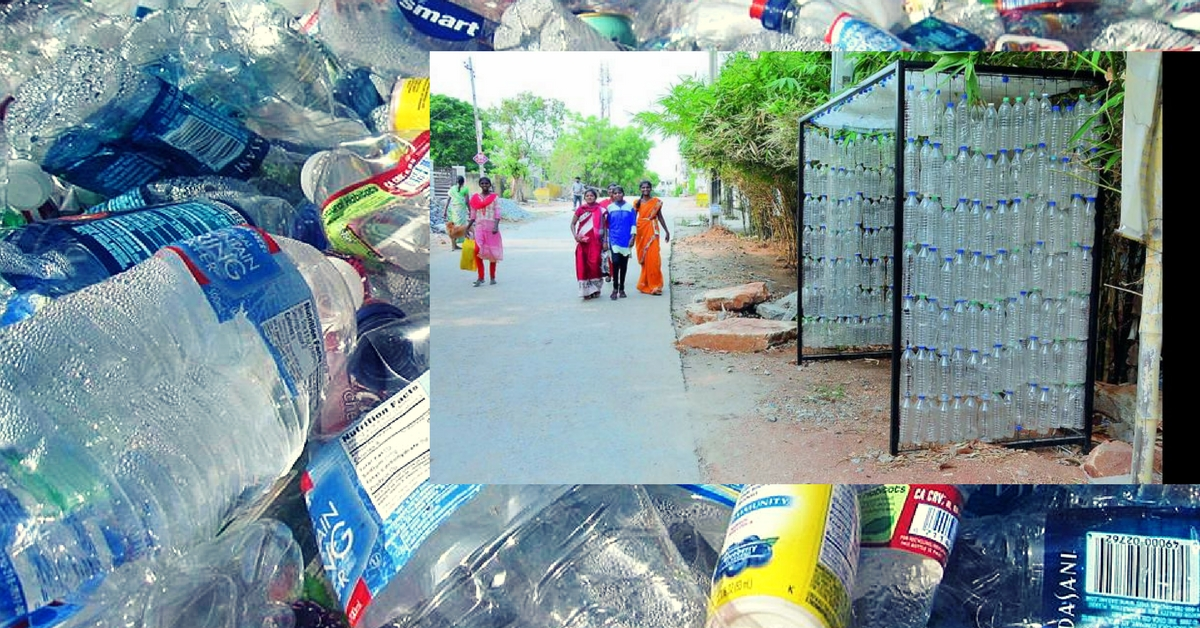Hyderabad Gets Its First Recycled Bus Shelter, Made From 1,000 Plastic Bottles!
