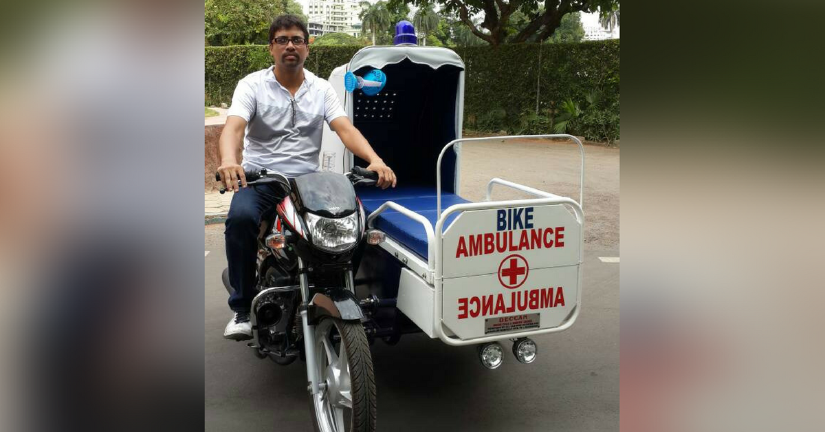 A Beggar's Ordeal After His Wife's Death Inspired This Mechanic to Design a Bike Ambulance