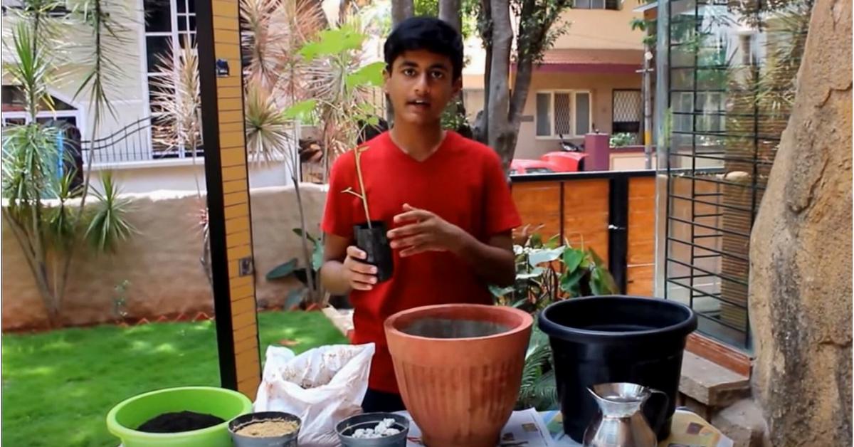This 16-Year-Old Bengaluru Boy Grows His Own Veggies & Teaches Organic Farming on YouTube!