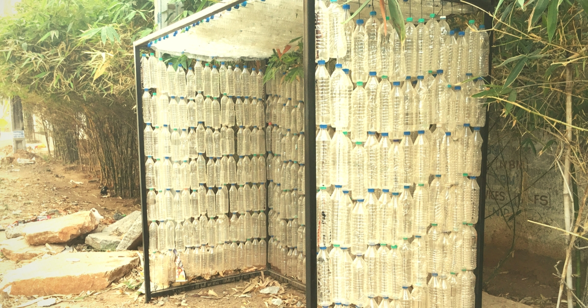From a Water Tank to a Bus Shelter – This Couple Is Using Pet Bottles for Construction