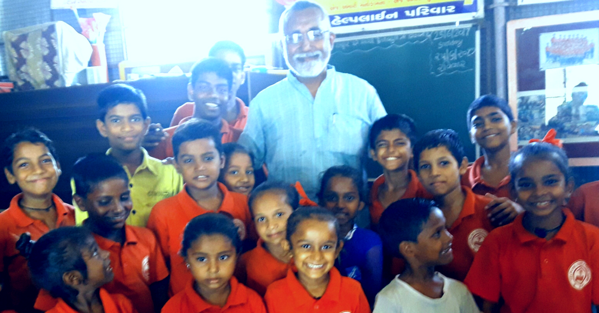 This Man Came to Ahmedabad to Start a Business, but Ended up Starting a School for Slum Kids