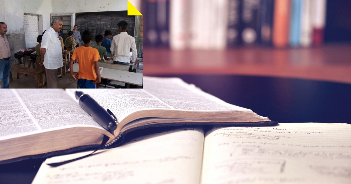 After Adopting a School, This District Magistrate in UP Has Now Taken up the Role of a Teacher!