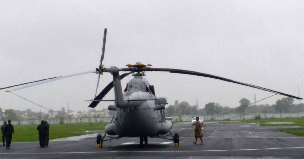 IAF Rescues Mom With Newborn Twins & a Pregnant Lady Who Were Stranded in Flood-Hit Gujarat