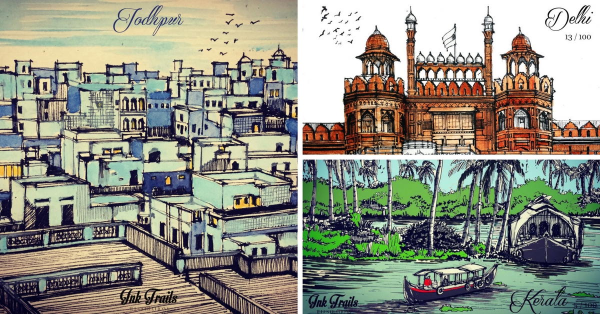 Snow-Capped Ladakh to Kerala's Backwaters: An Artist's Depiction of Diverse India
