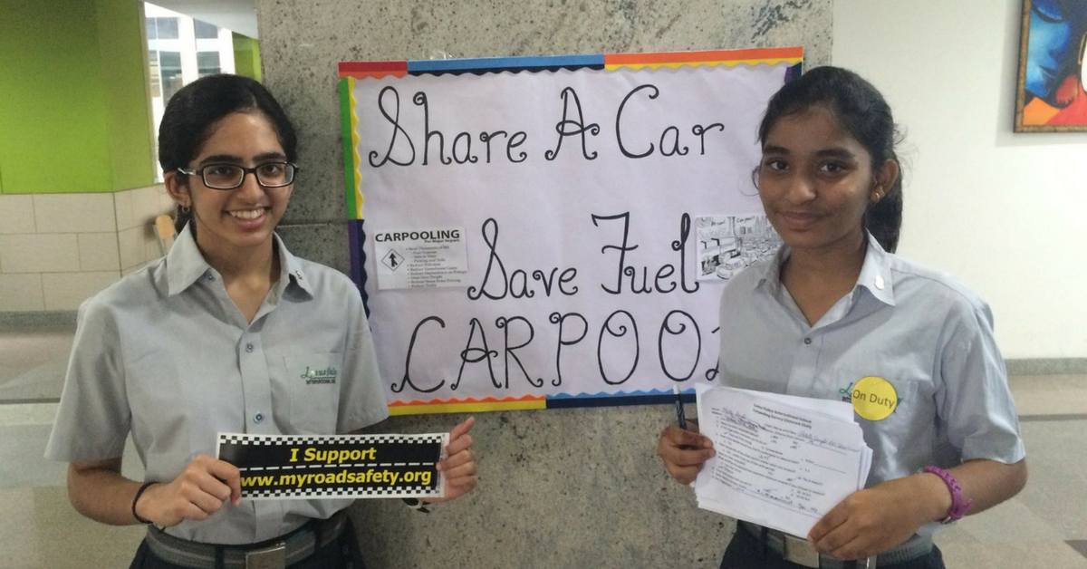 This 16-Year-Old Girl Wanders the Busy Streets of Noida to School Drivers on Road Safety