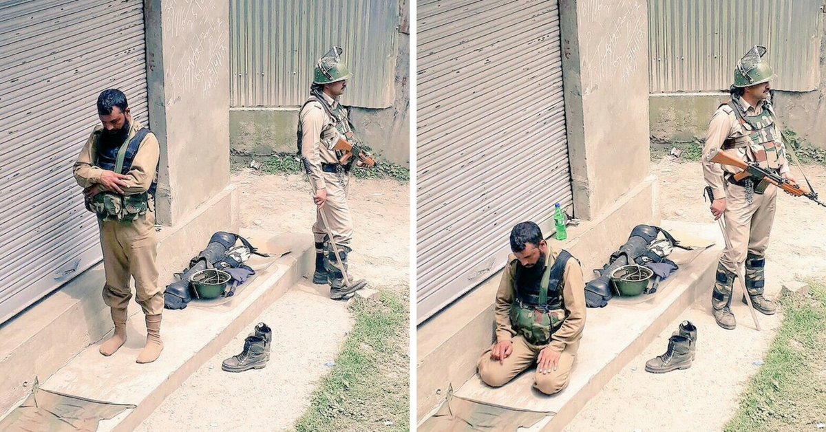 This Iconic Photograph of Jawans Standing for Communal Peace in J&K Is a Ray of Hope Amid Unrest