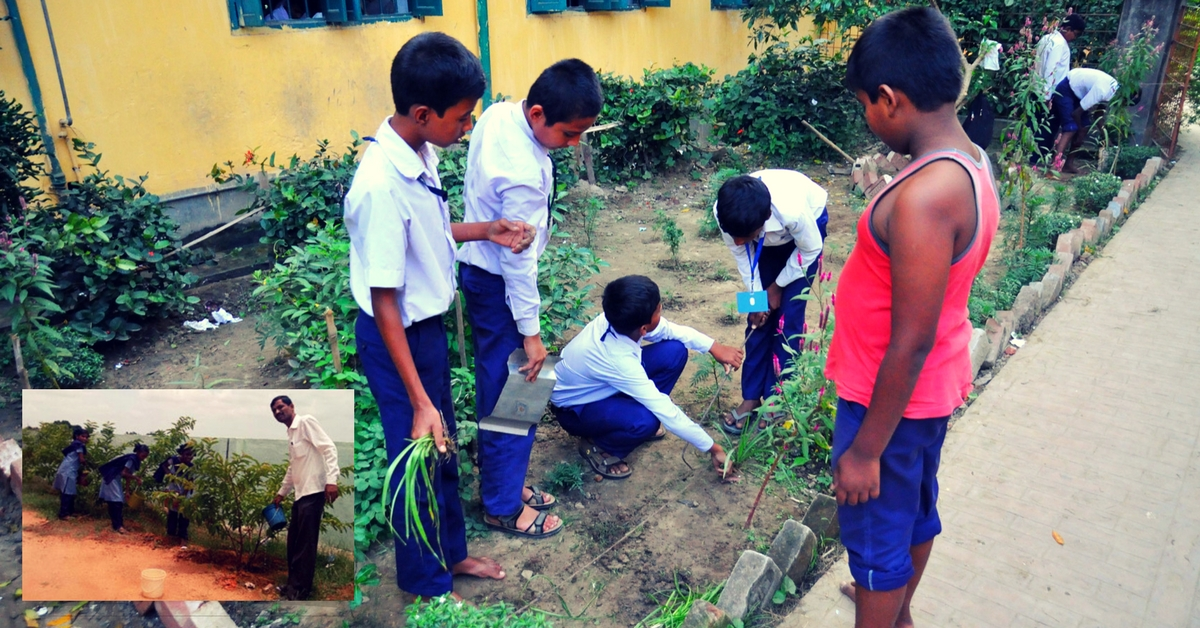 This School Teacher in Hyderabad Inspired 60 Students to Plant Over 300 Saplings!
