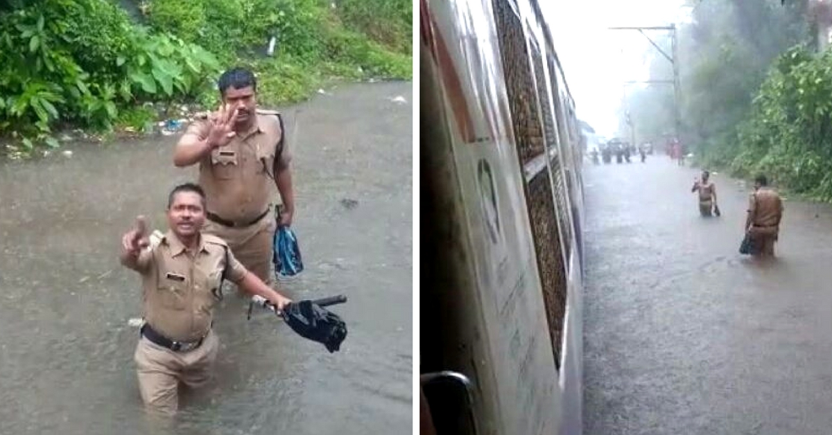 The Rains May Have Stalled Most of Mumbai, But Not its Police Force