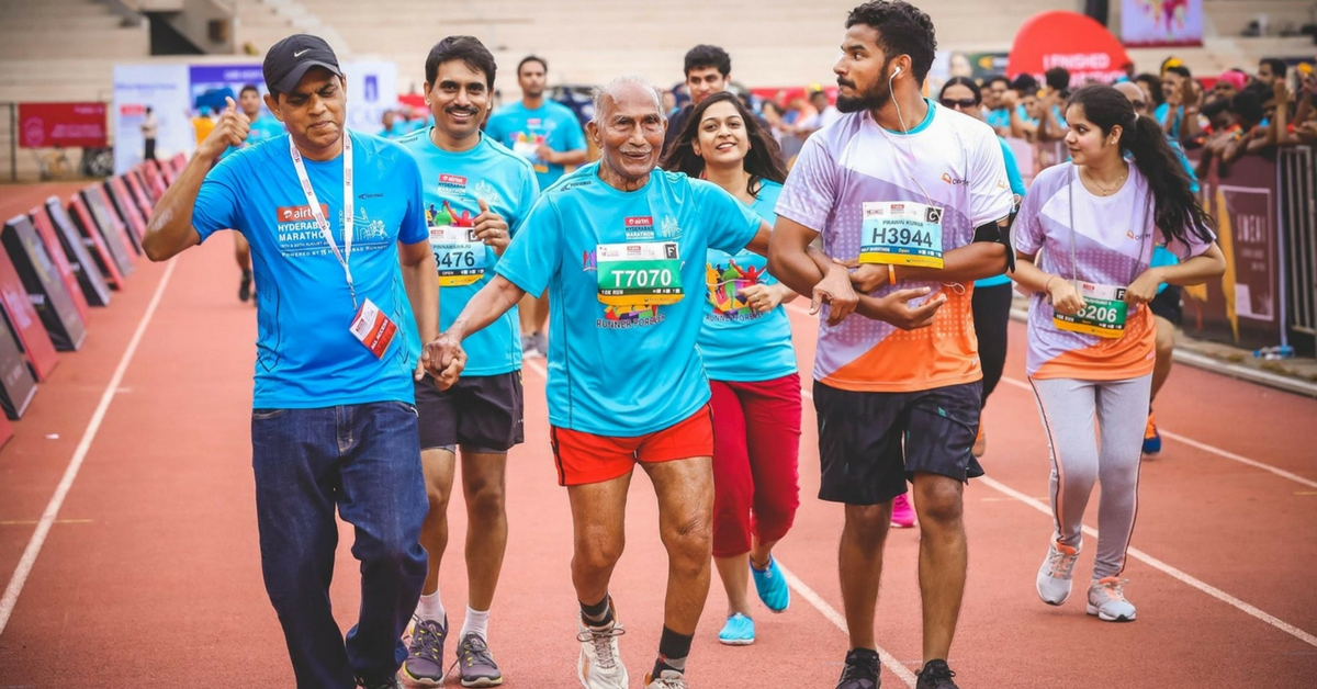 10K Race in 150 Minutes! This Hyderabadi 95-Year-Old Just Set Major Fitness Goals