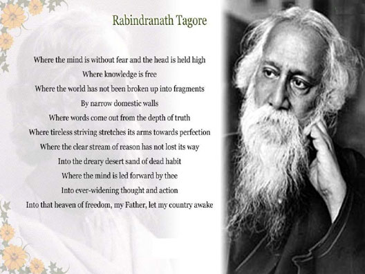 independence poetry Rabindranath Tagore