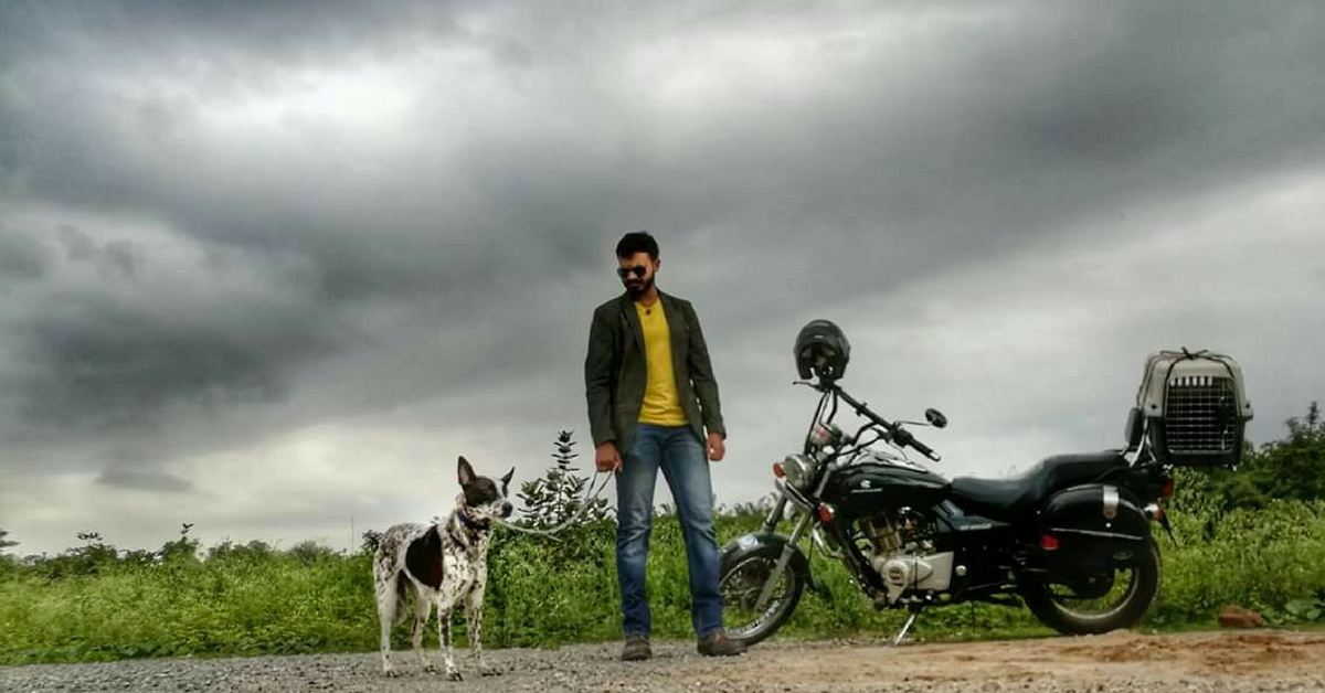 Need Pet Transport in Bengaluru? Biker Gowtham Will Come to Your Dog's Aid