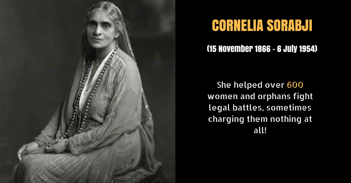 Here's How India's First Woman Lawyer, Cornelia Sorabji Opened Law for Women in 1924!