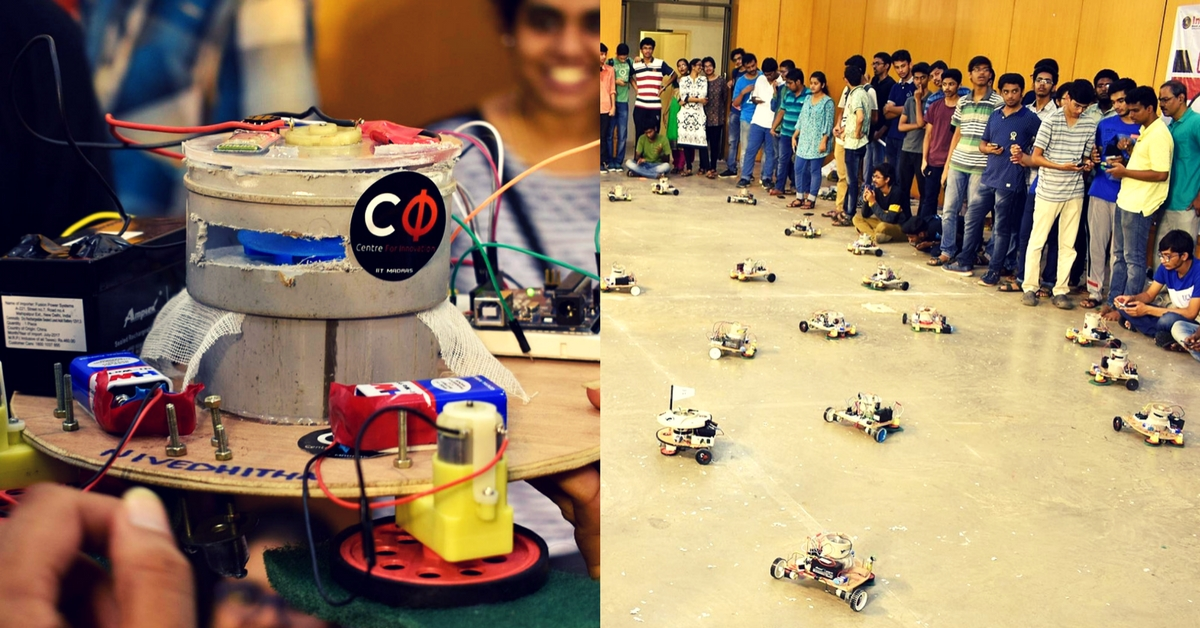 IIT-M Students for Swachh Bharat Abhiyaan, Clean Area Using 45 Robots in 15 Mins!