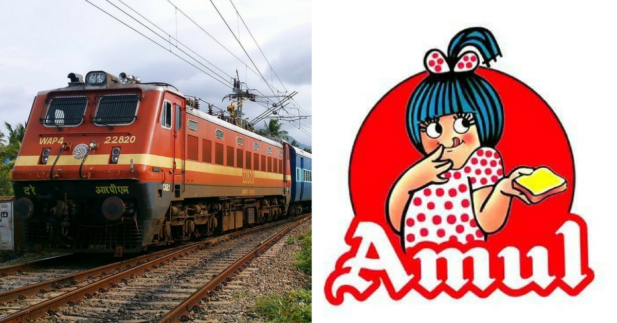 Indian Railways & Amul Work Together to Bring the Taste of India to Every Indian