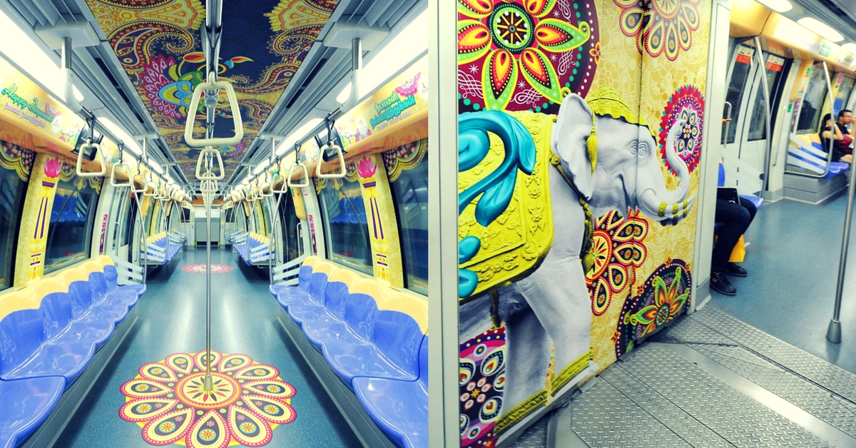 In Pictures: Singapore's Trains and Buses Celebrate Deepavali in Style