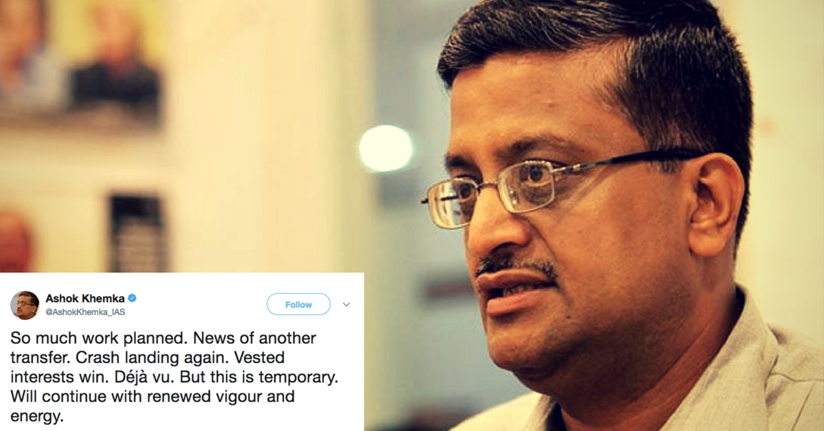 Transferred for the 51st Time, Ashok Khemka Wins Us Over With His Amazing Attitude