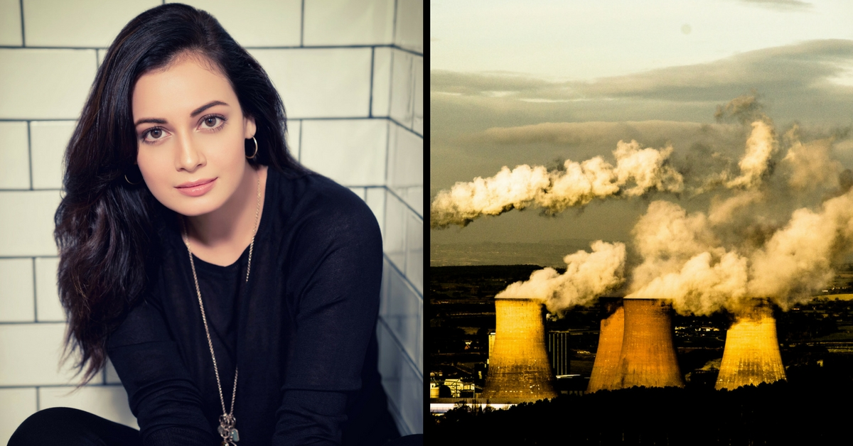 """Dia Mirza: """"Together We Can Clean up the Planet and #BeatPollution"""""""