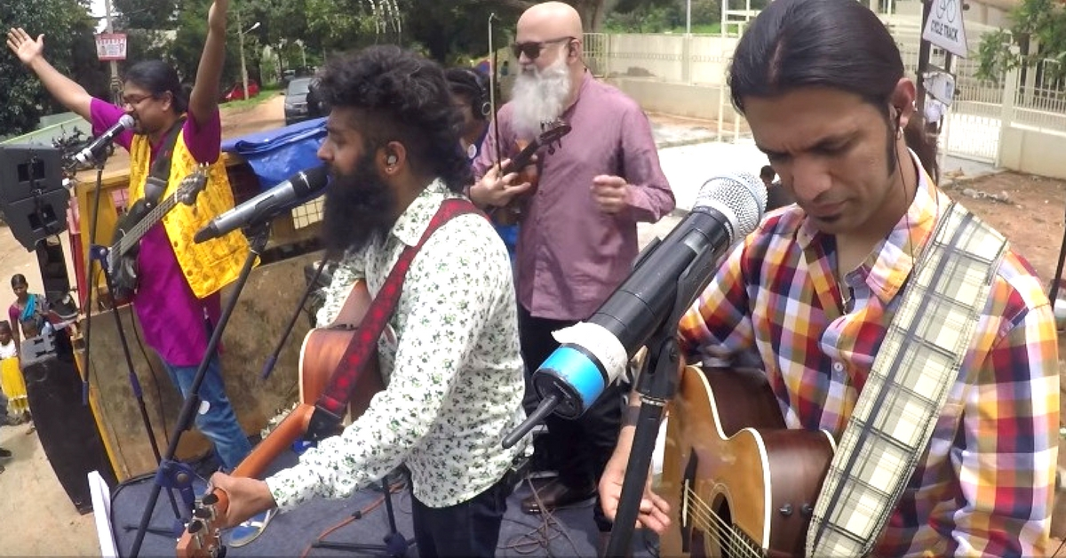 Watch: Swarathma Takes to the Streets to Perform for Citizens as They Clean up Bengaluru