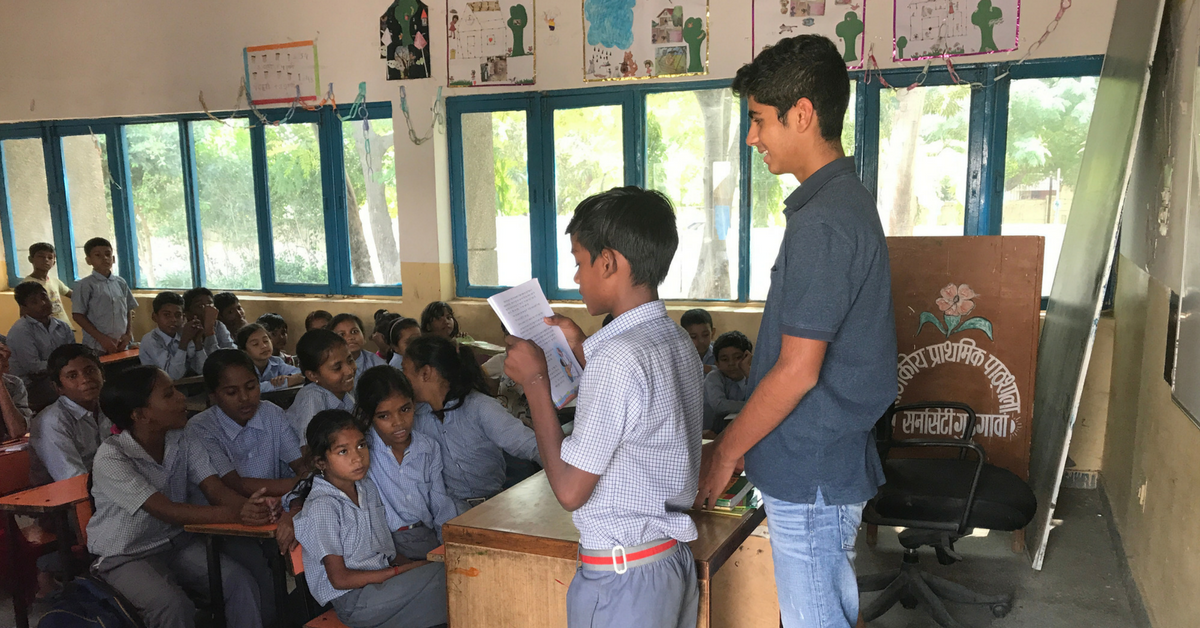 Tushar is a Teen in Class 10, But He Has Already Helped Transform a Govt School!