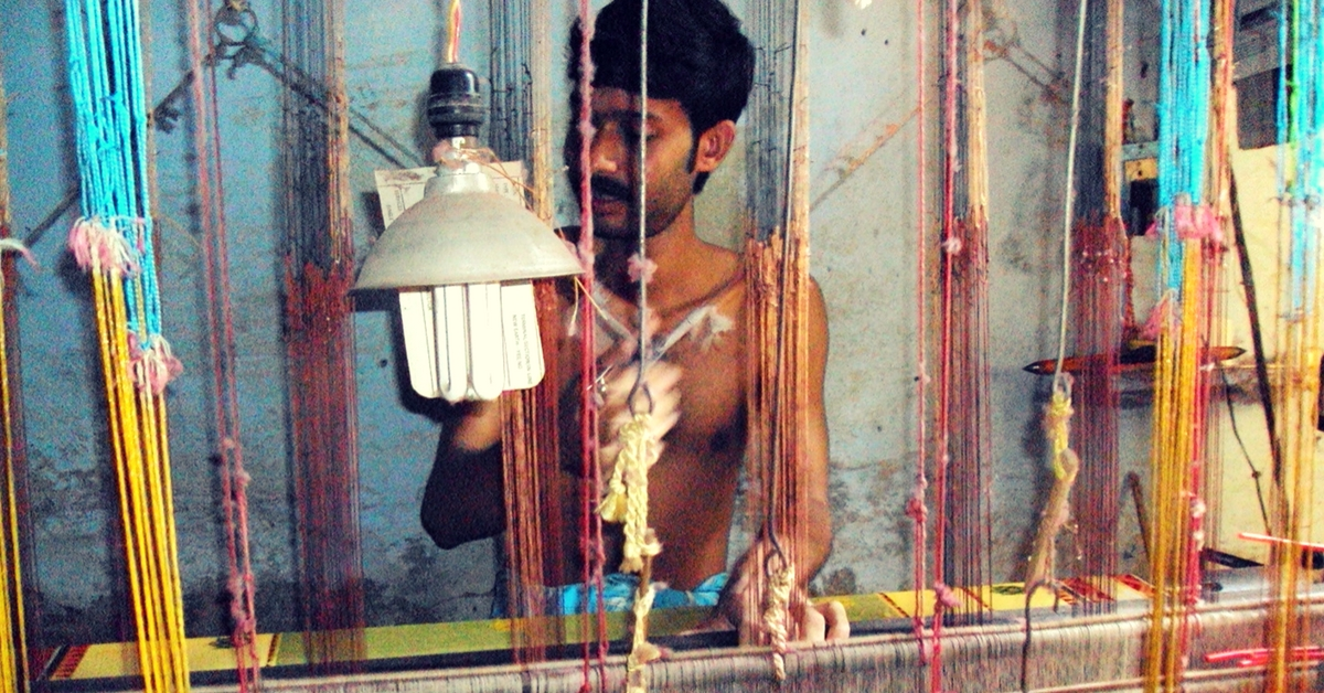 A weaver perfecting his craft. Picture Courtesy: Wikimedia Commons.